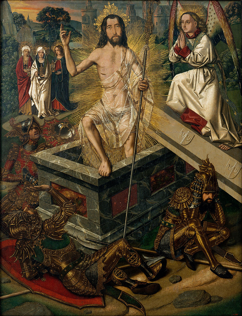 «Bartolomé Bermejo - Resurrection - Google Art Project»